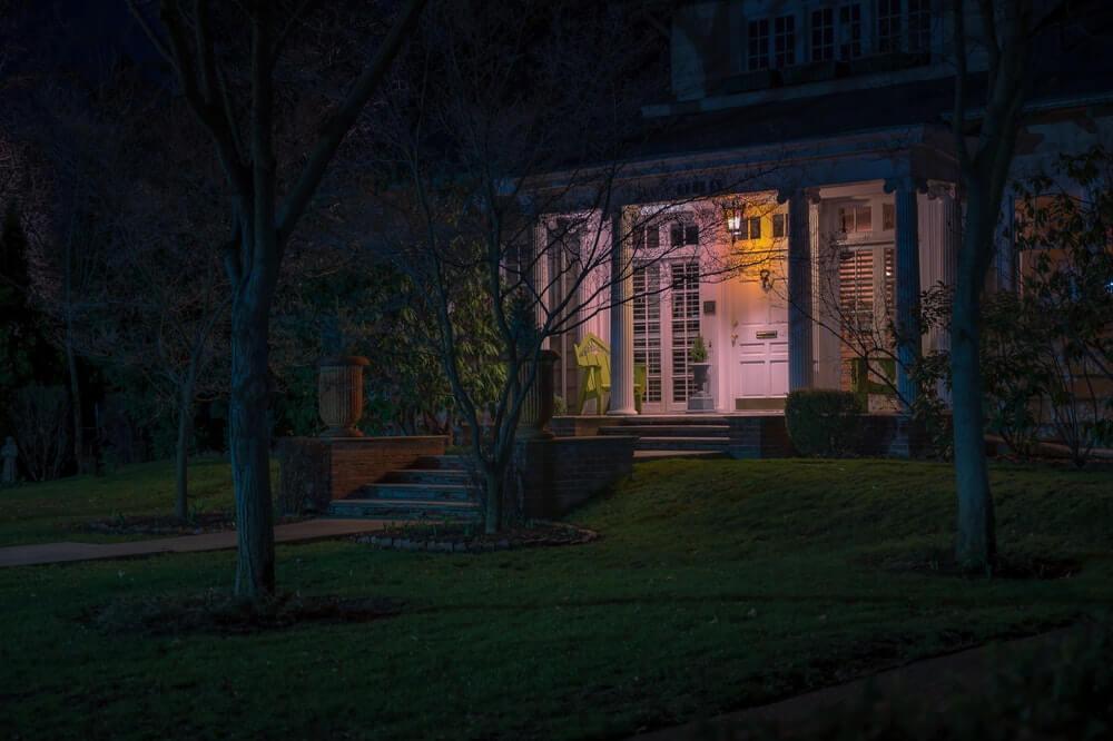 Setting up Lights Outside a House 2